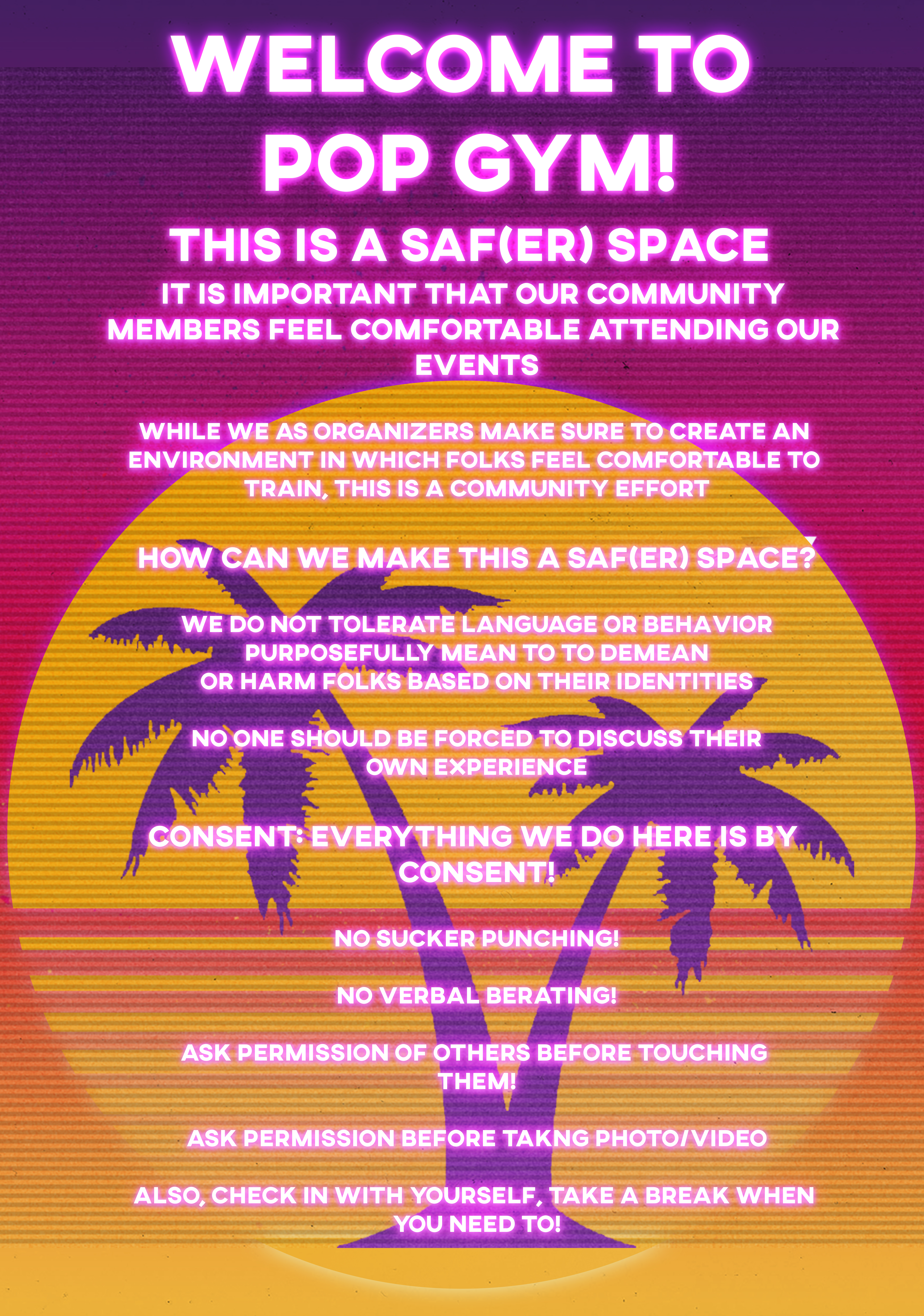 Pop Gym & Safe Space