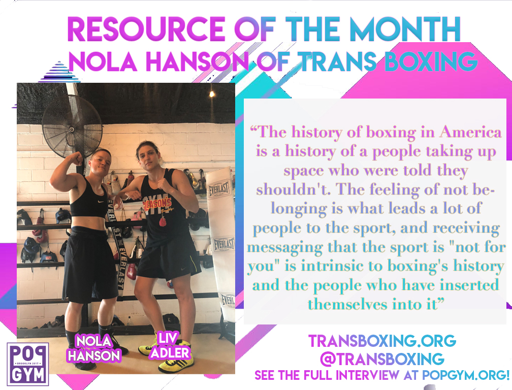 Nola Hanson and Liv Adler of Trans Boxing